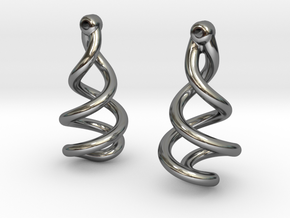 Helixial Circular Ear Rings in Premium Silver
