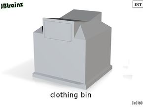 Clothing Bin (n-scale) in White Processed Versatile Plastic