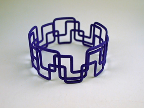 Modern Graphics Bracelet  in Purple Strong & Flexible Polished