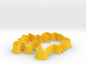 Jolteon Cookie Cutter in Yellow Processed Versatile Plastic