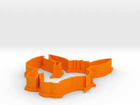 Eevee Cookie Cutter in Orange Processed Versatile Plastic