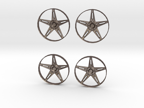 "5-Spoke Insert #01 for 18"" Modular Wheel in Polished Bronzed Silver Steel"
