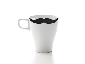 Mug & glass accessories Mustache 2 in Black Natural Versatile Plastic