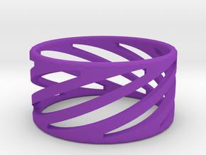 Ring2 in Purple Processed Versatile Plastic