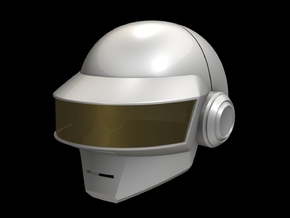Daft Punk Thomas Helmet _Part 1 of 2 in White Strong & Flexible