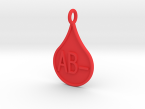 Blood type AB- in Red Processed Versatile Plastic