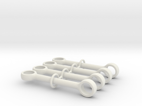 5m Pushrod 90 Degrees in White Natural Versatile Plastic