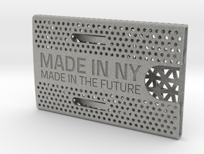 Business card case -Made in NY, Made in the Future in Metallic Plastic