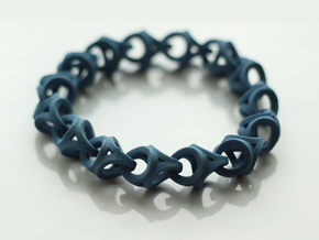 Crossover Thick - Bracelet size M in Blue Strong & Flexible Polished