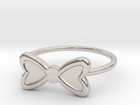 Midi Bow Ring, subtle and chic by titbit in Platinum