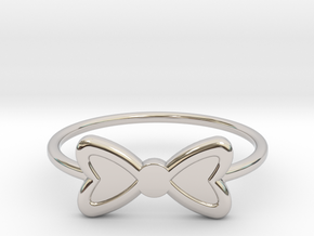 Knuckle Bow Ring, 15mm diameter by CURIO in Platinum