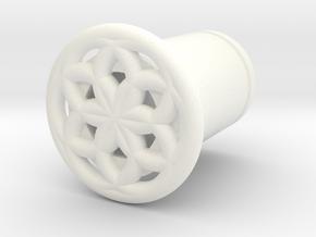 Seed Of Life plug in White Processed Versatile Plastic