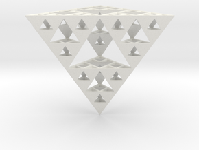 Hollow Sierpinski Tetrahedron in White Strong & Flexible