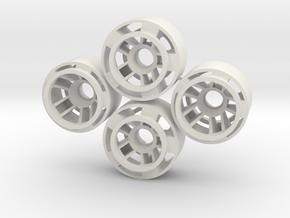 Mini-z F1 Wheelset BRM -1rears in White Natural Versatile Plastic