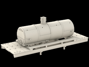 N Scale West Side Tank Car #2 in Frosted Ultra Detail