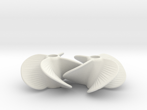 Boat Propellor 5 Studs in White Natural Versatile Plastic