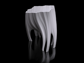 Julia Vase #003 - Roots in White Strong & Flexible