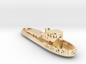 005A 1/350 Tug boat in 14K Yellow Gold