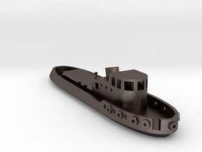 005B 1/350 Tug Boat in Polished Bronzed Silver Steel