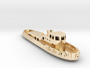 005B 1/350 Tug Boat in 14K Yellow Gold