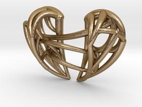 Healing Heart Pendant in Polished Gold Steel