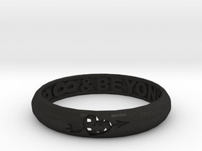 Word Ring in Black Acrylic