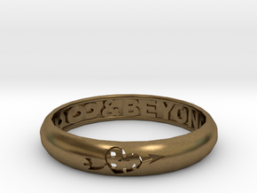 Word Ring in Natural Bronze