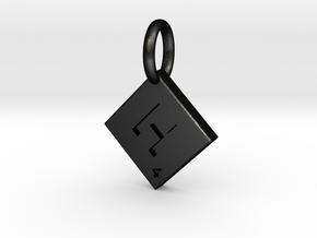 SCRABBLE TILE PENDANT  H  in Matte Black Steel