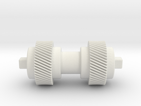 Double helical gear Mn=1 Z=50 Pressure Angle=20° in White Natural Versatile Plastic