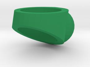 Green Lantern ring in Green Processed Versatile Plastic
