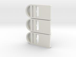 3er Testset Doppeladapter in White Natural Versatile Plastic