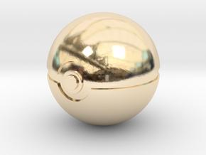 Pokeball 4cm in diameter. in 14K Yellow Gold