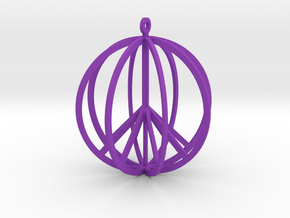 Global Peace in Purple Processed Versatile Plastic