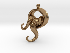 Tentacle Pendant in Natural Brass
