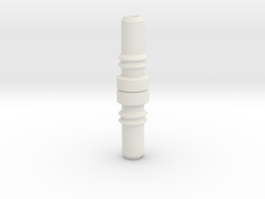 Internal Coaxial Piece in White Natural Versatile Plastic