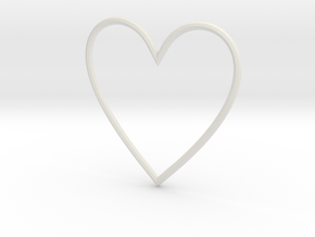 Heart in White Natural Versatile Plastic