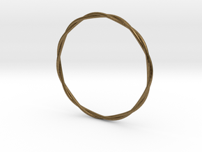 LooseTwist Bangle Bracelet SMALL in Natural Bronze