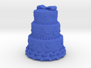 3 stair cake with harts in Blue Processed Versatile Plastic