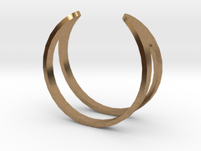 Ring19(18mm) in Natural Brass
