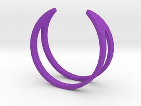 Ring19(18mm) in Purple Processed Versatile Plastic