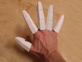Iron Man Fingers - One Hand in White Natural Versatile Plastic