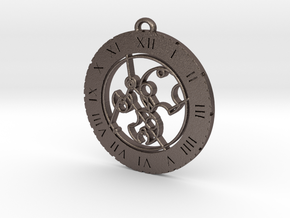 Don't Stop Me Now - Pendant in Polished Bronzed Silver Steel