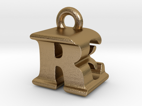 3D Monogram - REF1 in Polished Gold Steel