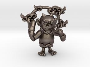 Rai-Jin in Polished Bronzed Silver Steel