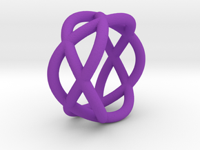 Napkin Ring Pretzel in Purple Strong & Flexible Polished