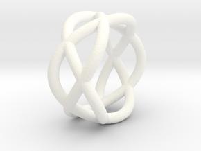 Napkin Ring Pretzel in White Processed Versatile Plastic