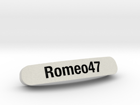 Romeo47 Nameplate for SteelSeries Rival in Full Color Sandstone