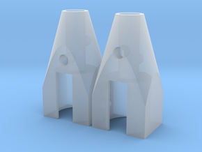 Pair of Mitchell Trans Rotor (10 mm) in Smooth Fine Detail Plastic
