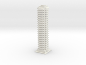 Tower Block 1 in White Natural Versatile Plastic