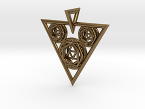 Sacred Geometry Pendant in Natural Bronze